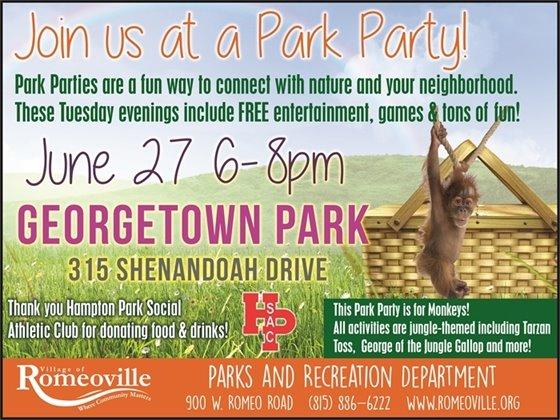 park party flyer
