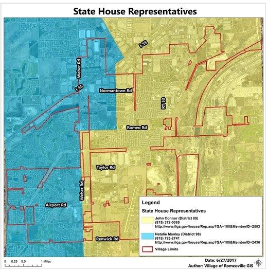 Romeoville State Representative Districts