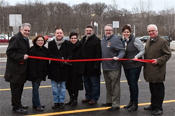 Metra Parking Lot Ribbon Cutting