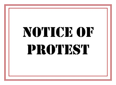 NOTICE OF PROTEST NF