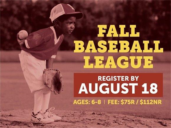Fall Baseball League: Register By August 18