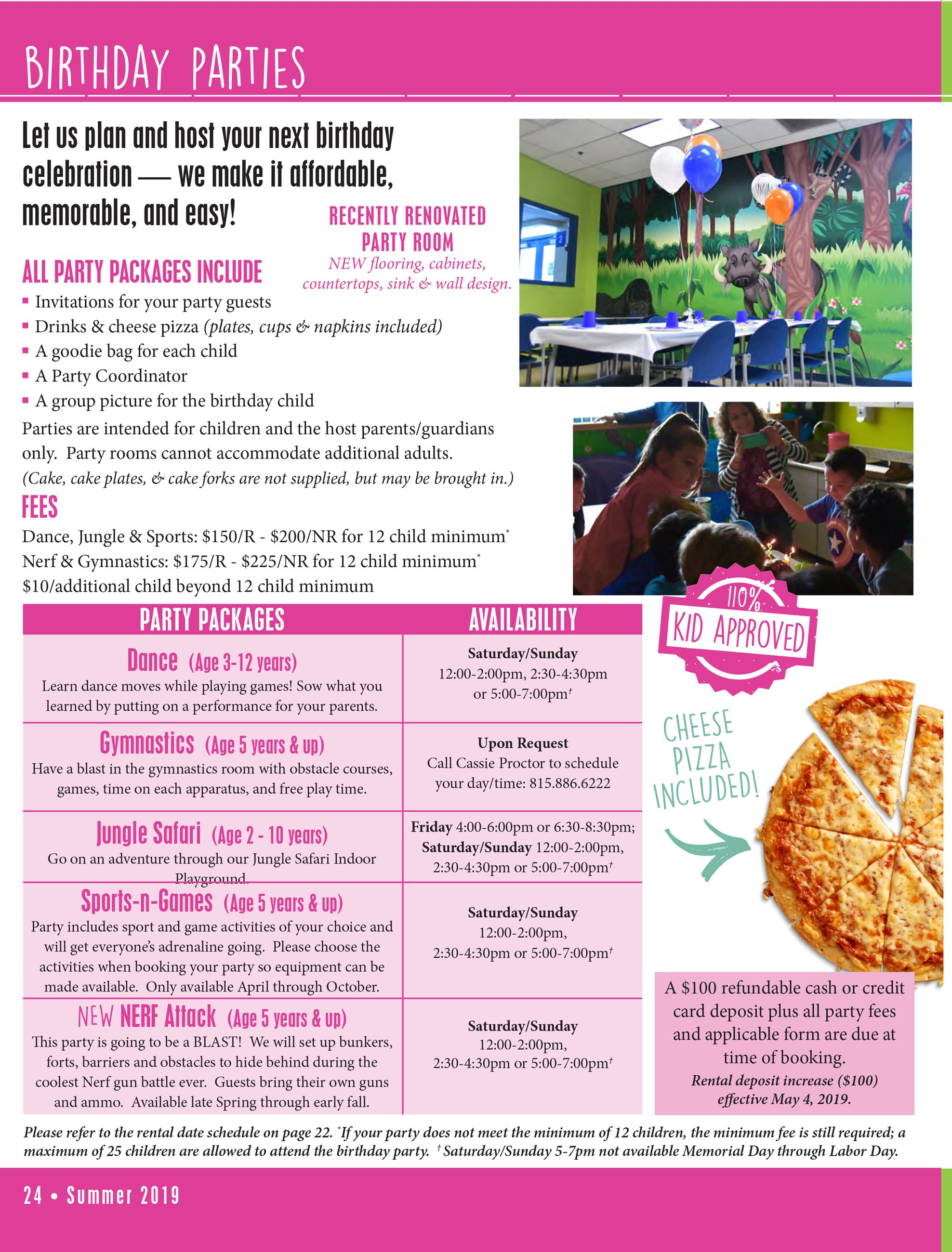 Birthday Party Packages | Romeoville, IL