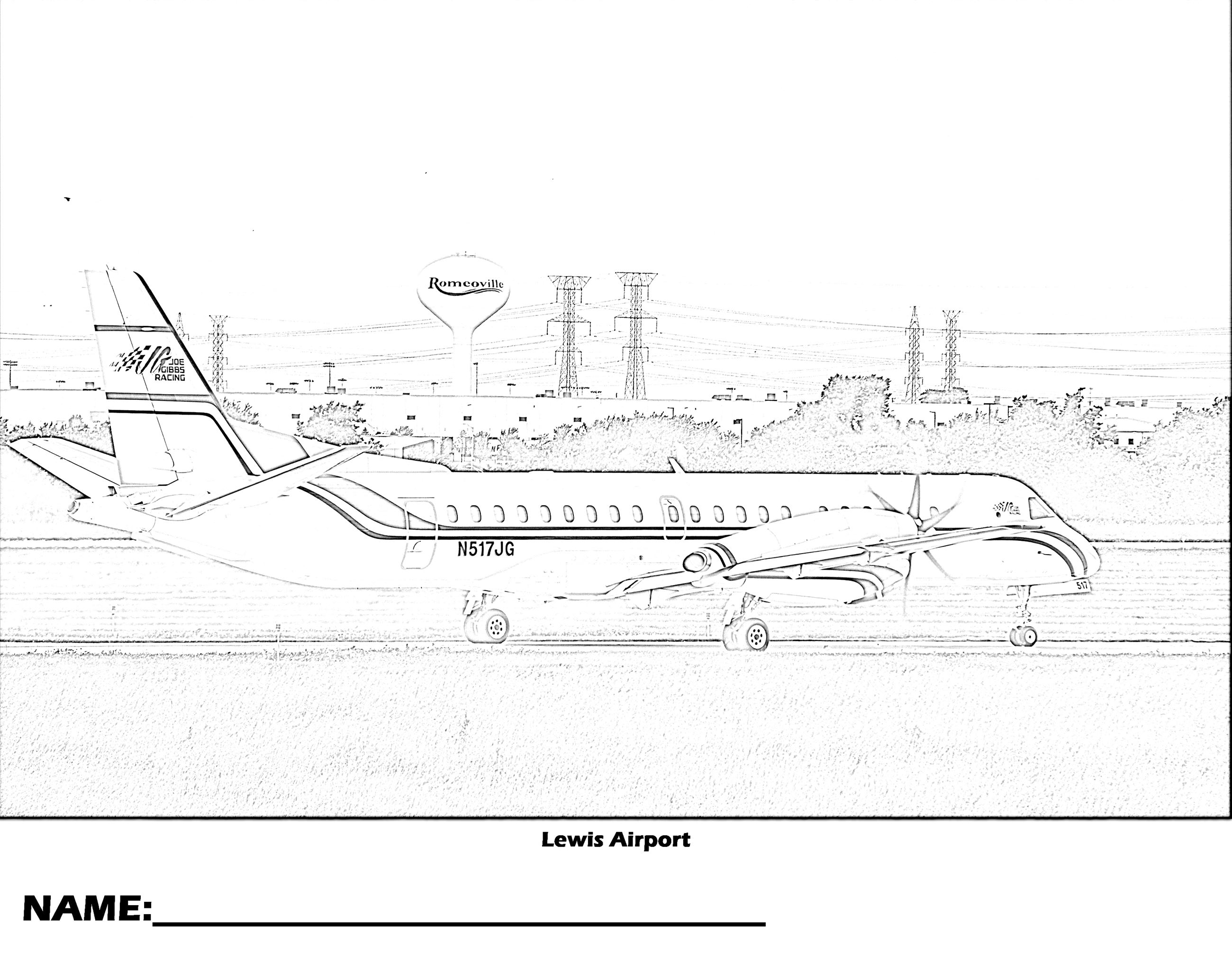 Lewis Airport Coloring Page