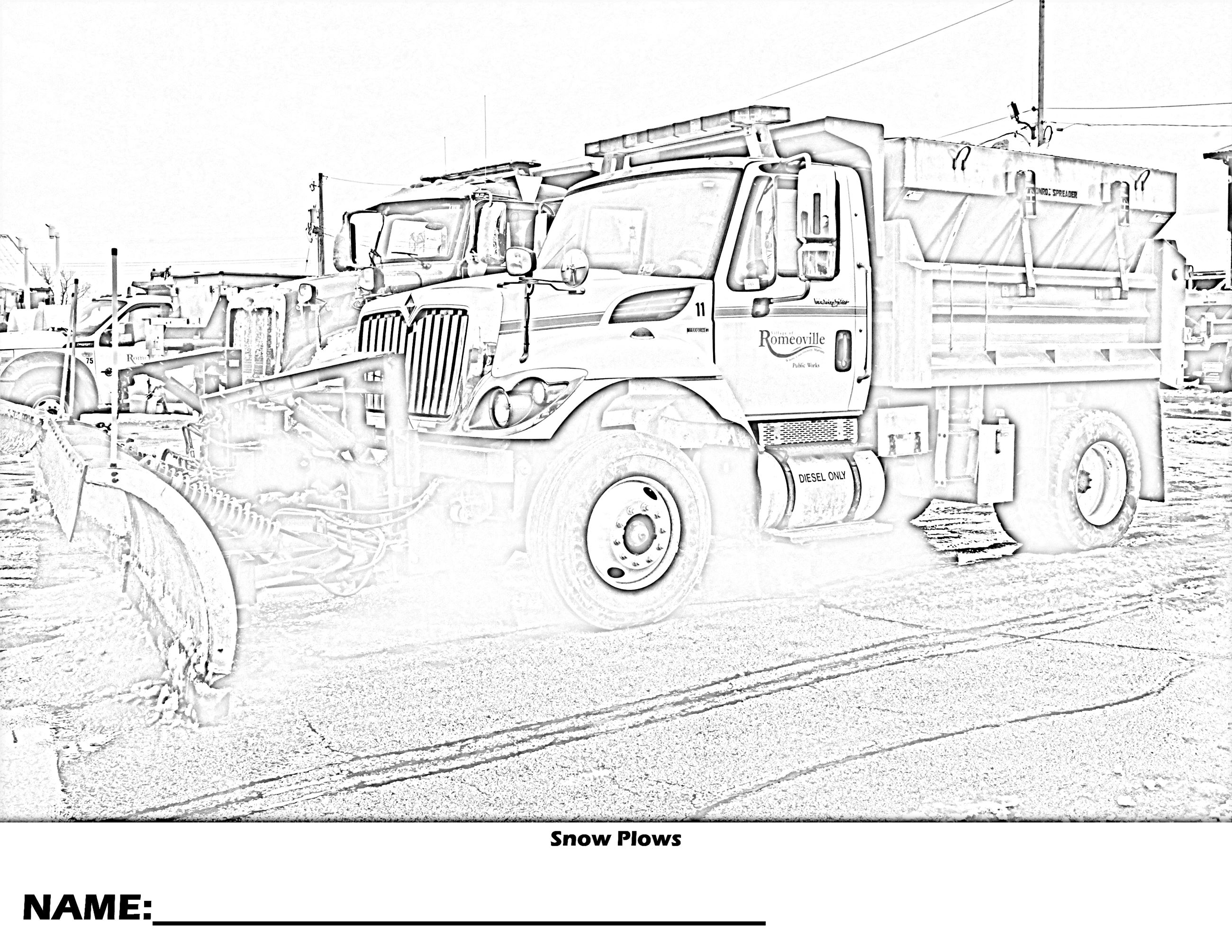 Snow Plows Coloring Page